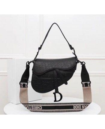 Кожаная сумка - седло с тиснением 18305