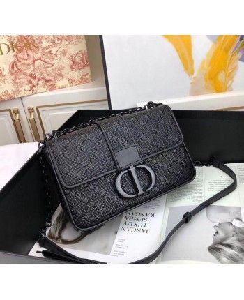 Черная кожаная сумка 18319