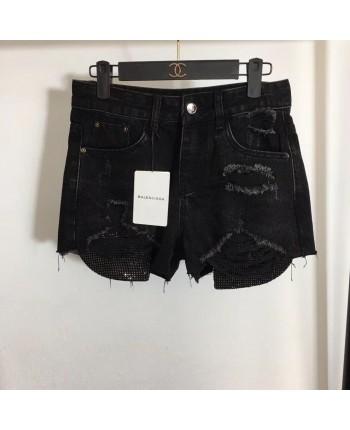Черные джинсовые шорты 18831