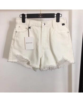 Рваные белые шорты 18875