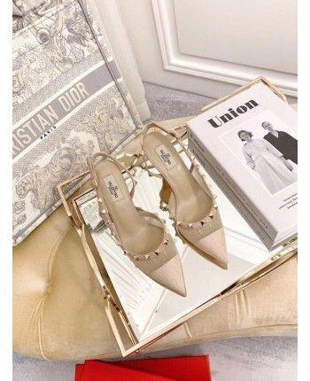 Кожаные босоножки на каблуке 18909