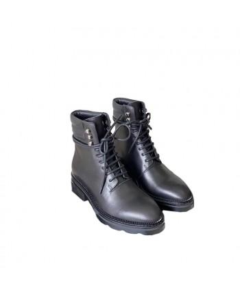 Кожаные ботинки на шнуровке 19697