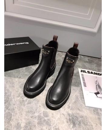 Кожаные ботинки на грубой подошве 19705