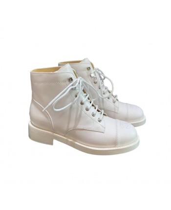 Кожаные ботинки на шнуровке 19717