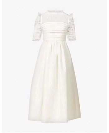 Нарядное платье с рюшами 110128