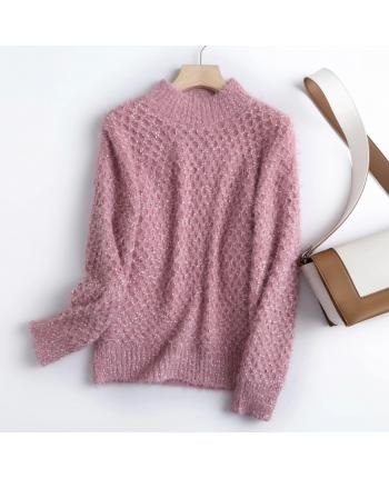 Вязаный свитер мохер 110001