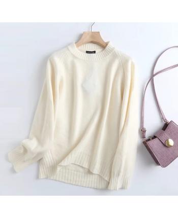 Теплый ассиметричный свитер 110013