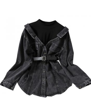 Удлиненная джинсовая рубашка 19980