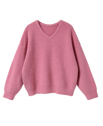 Вязаный свитер с V-вырезом 19979