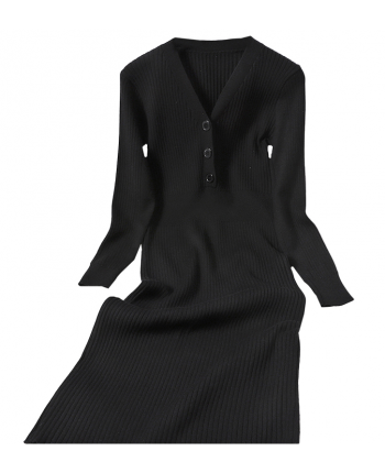 Силуэтное трикотажное платье 110020