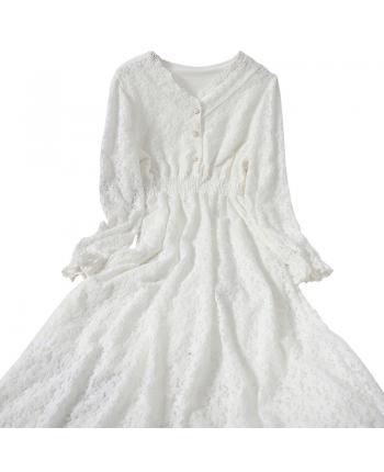 Кружевное платье 110019