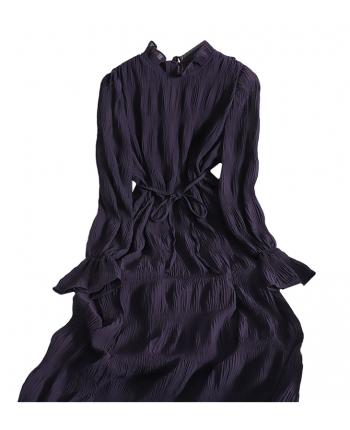 Шифоновое платье с рюшами 110027