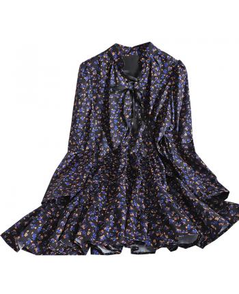 Цветочное платье свободного кроя 110028