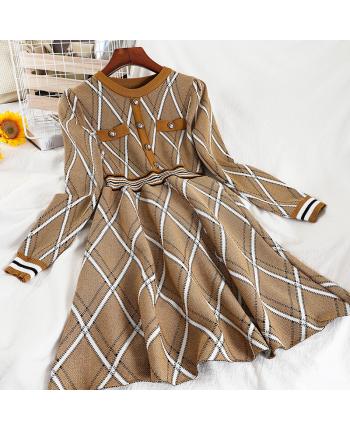 Трикотажное платье с люрексом 110043