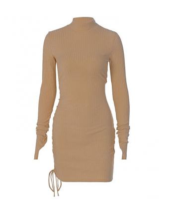Трикотажное платье с кулиской 110039