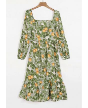 Шифоновое платье с рисунком 110064