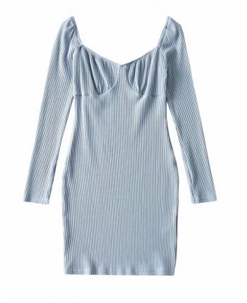 Коттоновое платье-бюстье 110056