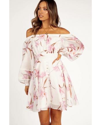 Платье с открытыми плечами 110123