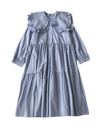 Хлопковое платье с воротником 110067