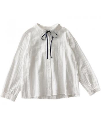 Белая рубашка с бантом 110061