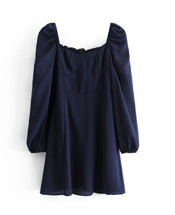 Синее платье бюстье 110074