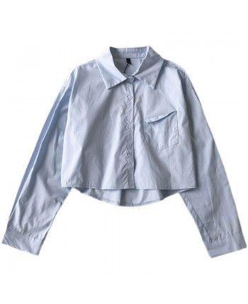 Укороченная рубашка поло 110152