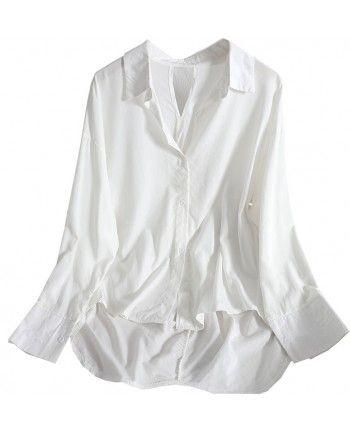 Удлиненная белая рубашка 110138