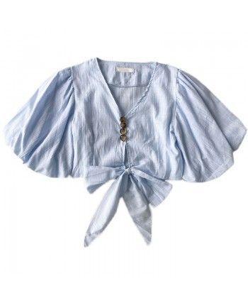 Блуза с пышным рукавом 110148