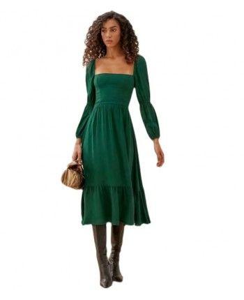 Зеленое платье 110085