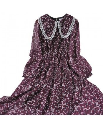 Шифоновое платье с воротником 110089