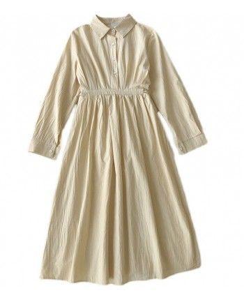 Хлопковое платье-рубашка 110114