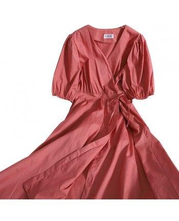 Хлопковое платье на запах 110142