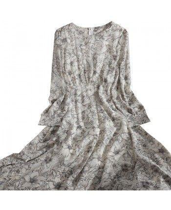 Шифоновое платье с узором 110150
