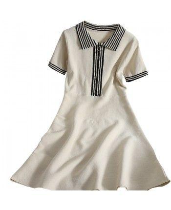 Трикотажное платье на змейке 110131
