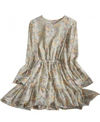 Шифоновое платье с цветами 110173