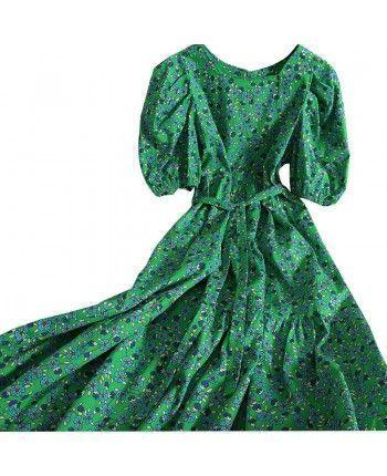 Хлопковое платье с цветами 110154