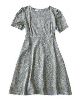 Шифоновое платье с цветами 110153