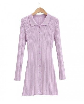 Трикотажное платье поло 110192