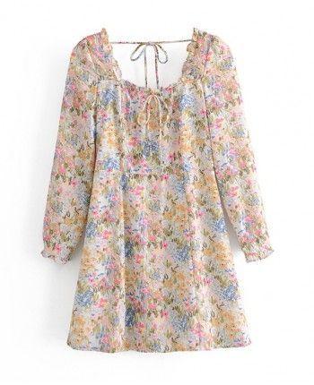 Цветочное платье 110198