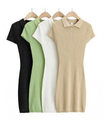 Трикотажное платье поло 110264