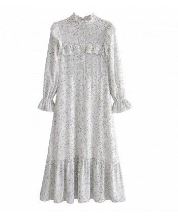 Шифоновое платье с рукавом 110194