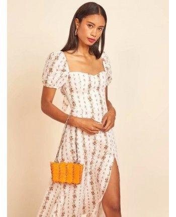 Шифоновое платье с разрезом 110266