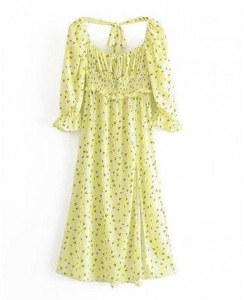 Неоновое платье с цветами 110267