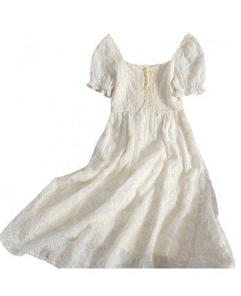 Кружевное платье на завязках 110202