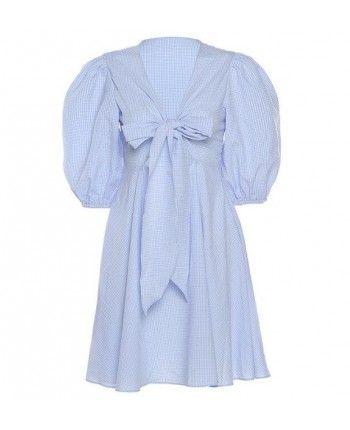 Голубое платье с бантом 110269