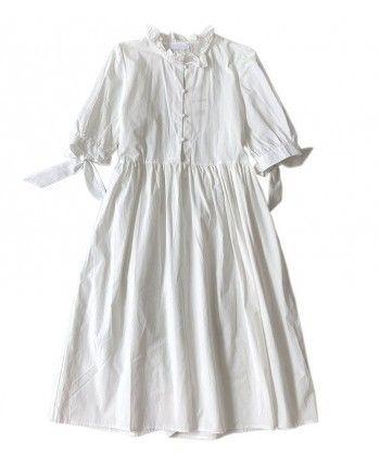 Белое хлопковое платье 110224