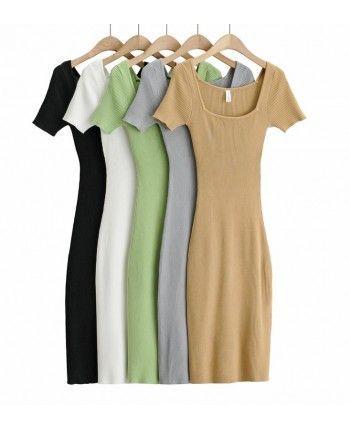 Платье-футболка с разрезом 110284