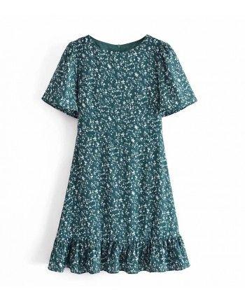 Зеленое платье 110288