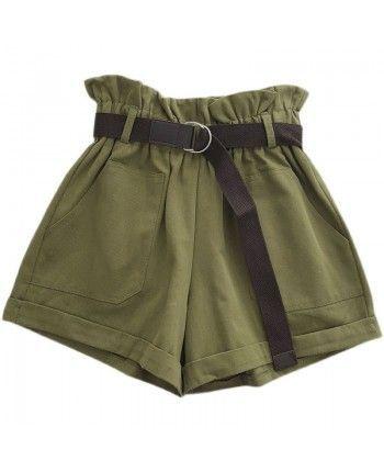 Хлопковые шорты с поясом 110277