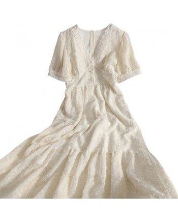 Кружевное платье с V - вырезом 110238